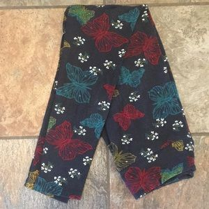 LuLaRoe OS butterfly leggings